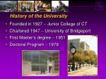 history of the university