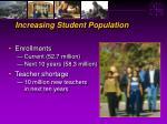 increasing student population