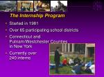 the internship program