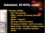 administ of ntg cont