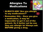 allergies to medications