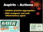 aspirin actions