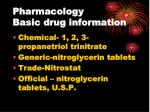 pharmacology basic drug information