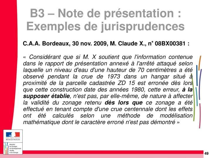 C.A.A. Bordeaux, 30 nov. 2009, M. Claude X., n° 08BX00381:
