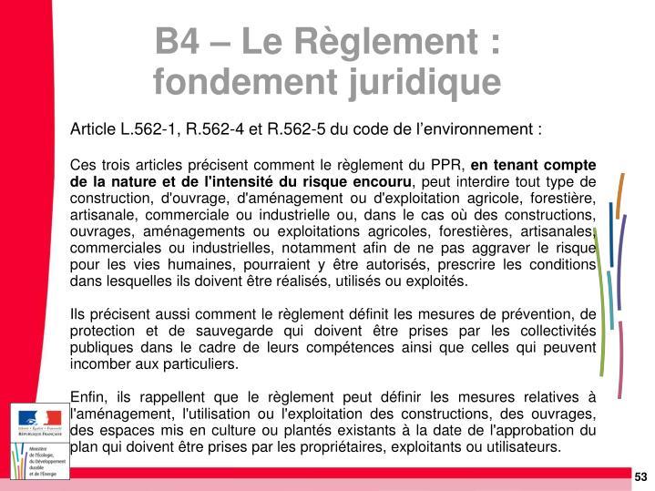 Article L.562-1, R.562-4 et R.562-5du code de l'environnement :