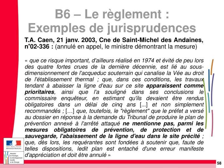 T.A. Caen, 21 janv. 2003, Cne de Saint-Michel des Andaines, n°02-336: