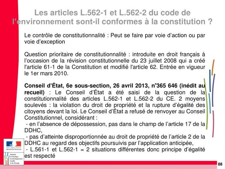 Le contrôle de constitutionnalité: Peut se faire par voie d'action ou par voie d'exception