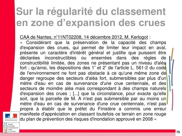 CAA de Nantes, n°11NT02208, 14 décembre 2012, M. Kerlogot