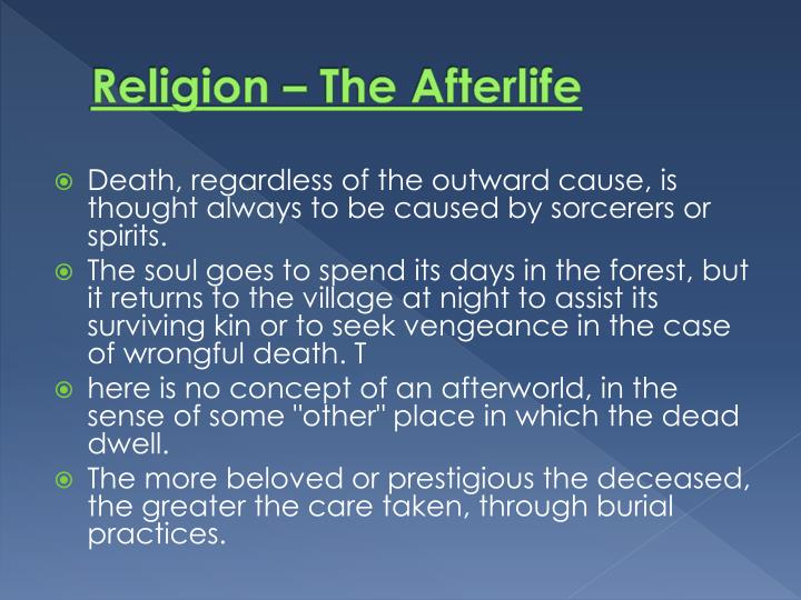Religion – The Afterlife