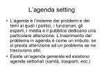 l agenda setting