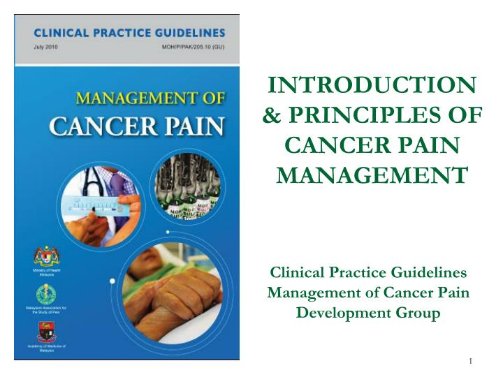 PPT - INTRODUCTION & PRINCIPLES OF CANCER PAIN MANAGEMENT PowerPoint