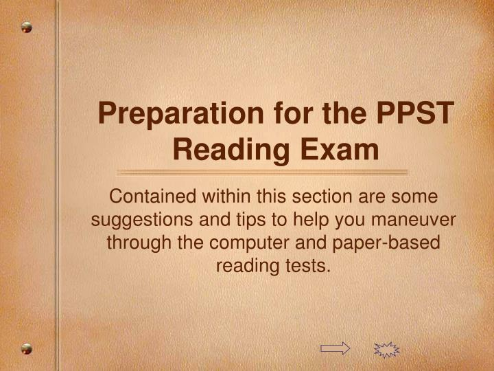 preparation for the ppst reading exam n.