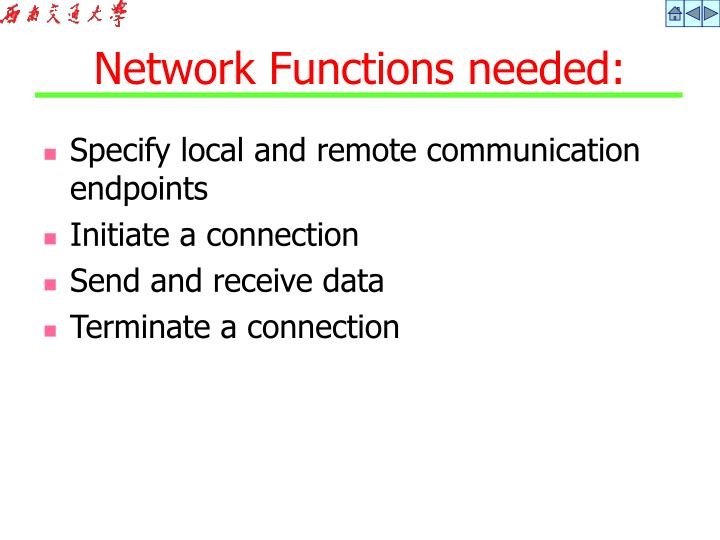 Specify local and remote communication endpoints