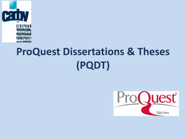 proquest dissertations theses pqdt n.