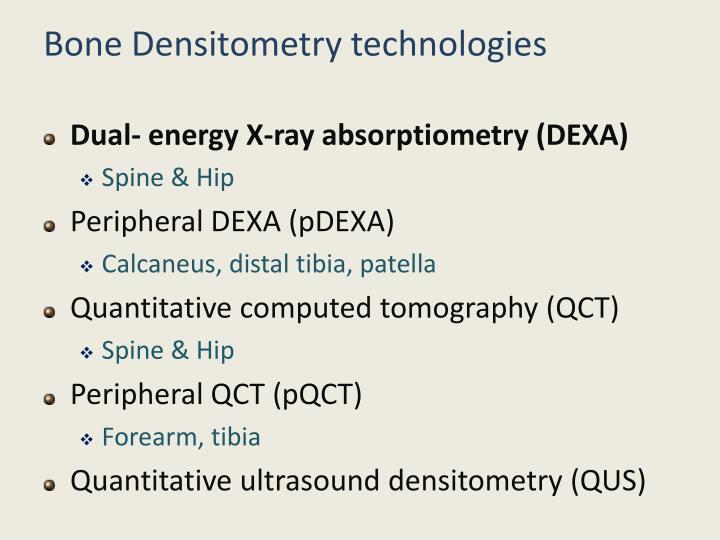 Bone Densitometry technologies