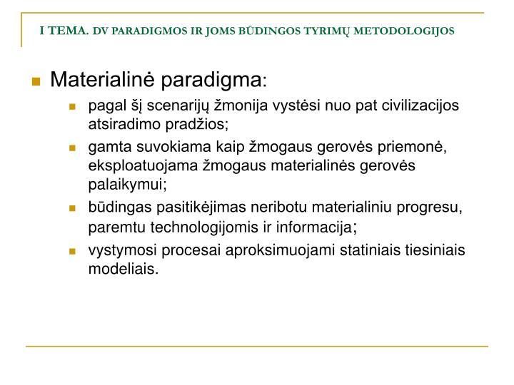 I tema dv paradigmos ir joms b dingos tyrim metodologijos1