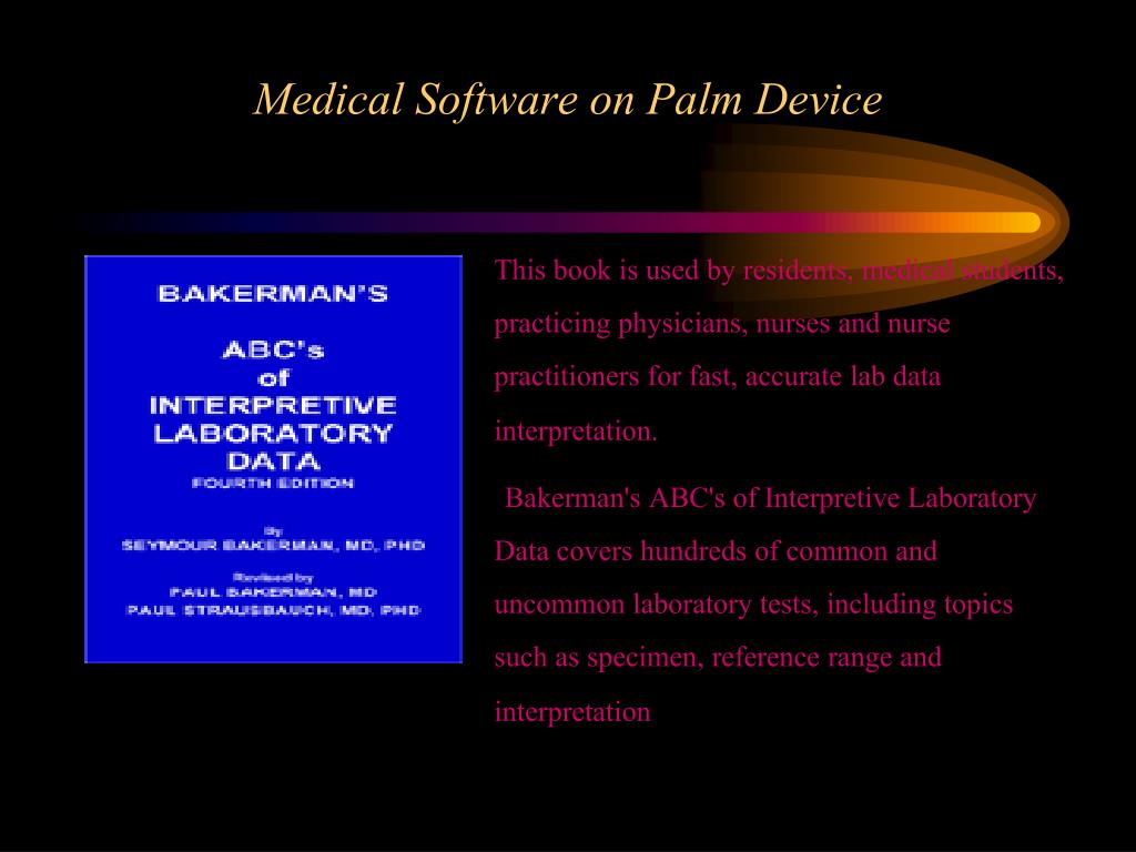 PPT - Medical Software on Palm Device PowerPoint