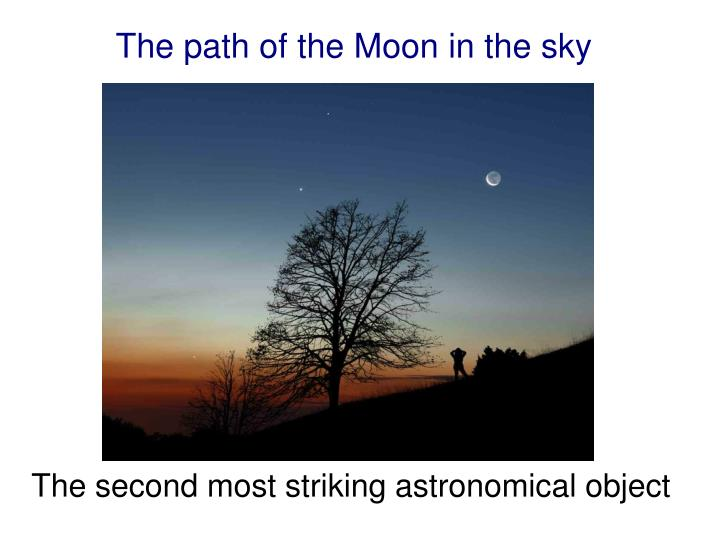 the path of the moon in the sky n.