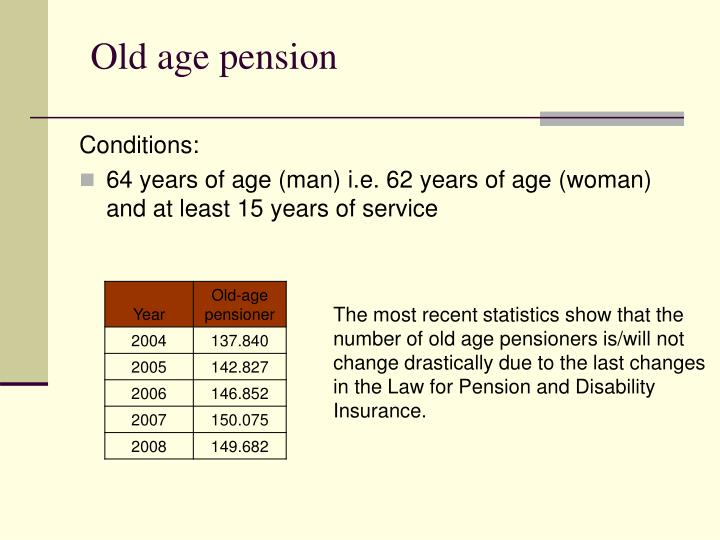Old age pension