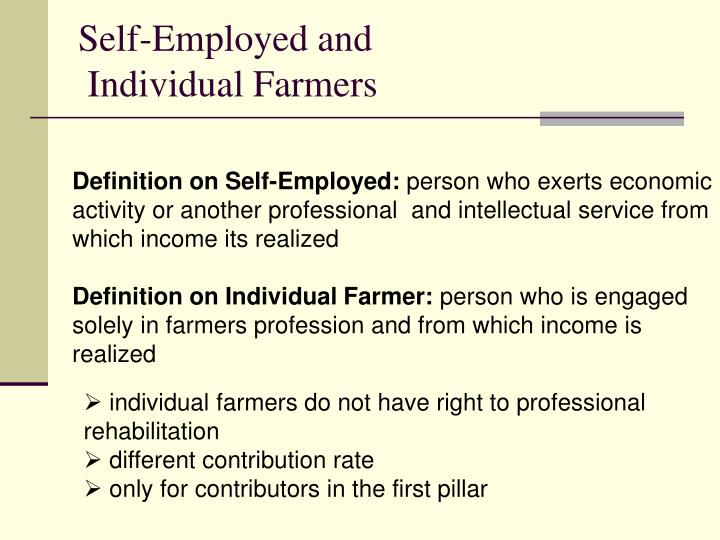 Self-Employed and