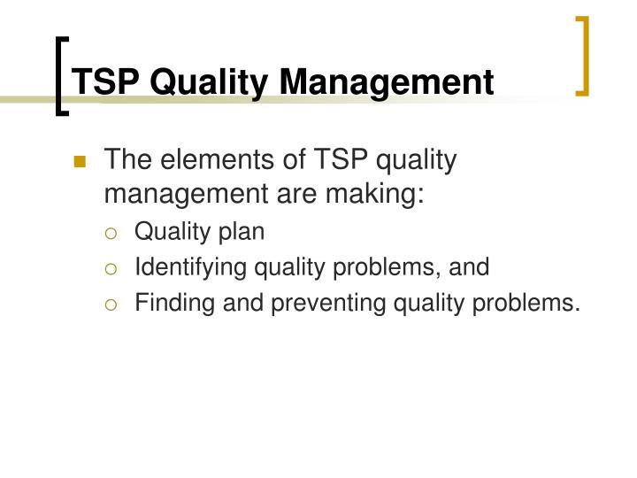 TSP Quality Management