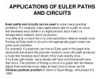 applications of euler paths and circuits