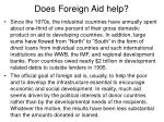 does foreign aid help