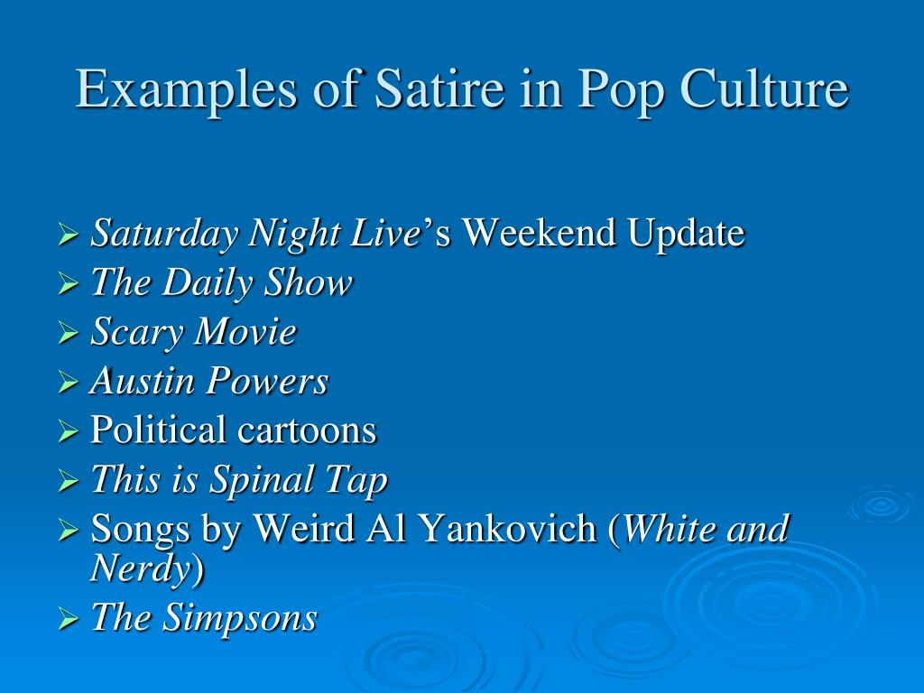 Ppt The Elements Of Satire Powerpoint Presentation Free