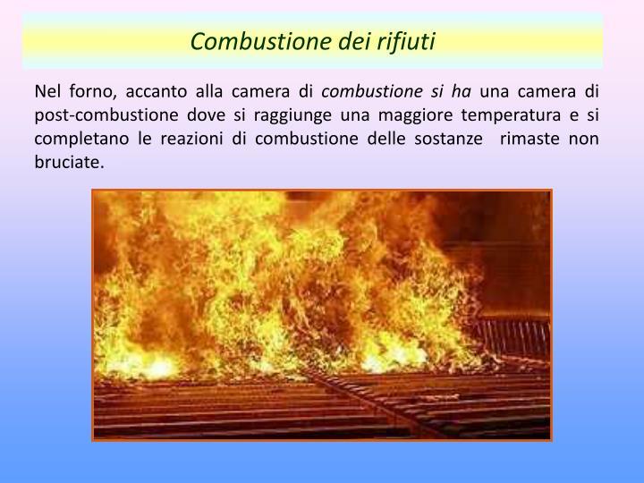 Combustione dei rifiuti