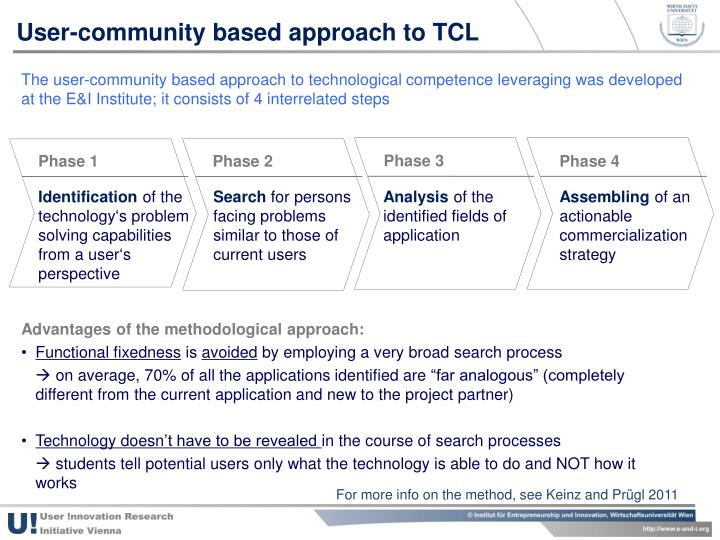 User-community based approach to TCL