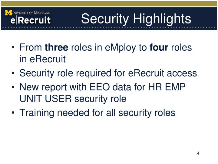 Security Highlights