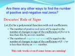 descartes rule of signs