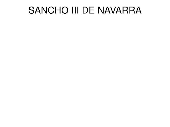 SANCHO III DE NAVARRA