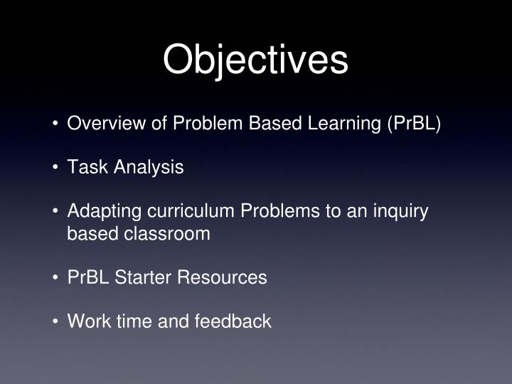 an overview of the problem based learning technique of learning Technique of problem-based learning overview of the problem-based learning to find out what it's like and if pbl might be right for you the medic portal is.