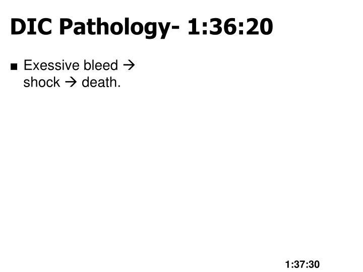 DIC Pathology- 1:36:20