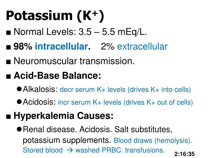 Potassium (K