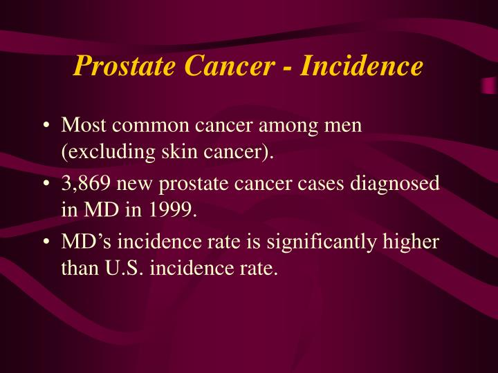 Prostate cancer incidence
