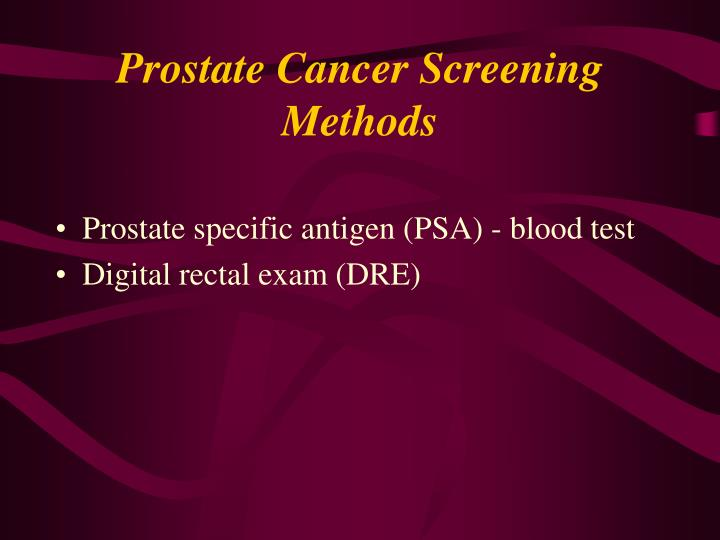 Prostate Cancer Screening Methods