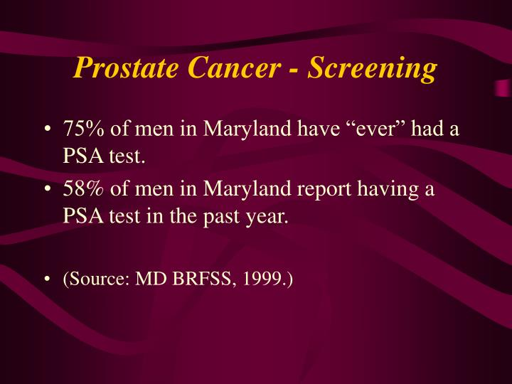 Prostate Cancer - Screening