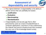 assessment of dependability and security