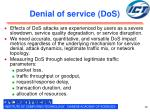 denial of service dos