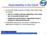 dependability in the cloud