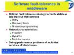 software fault tolerance in middleware