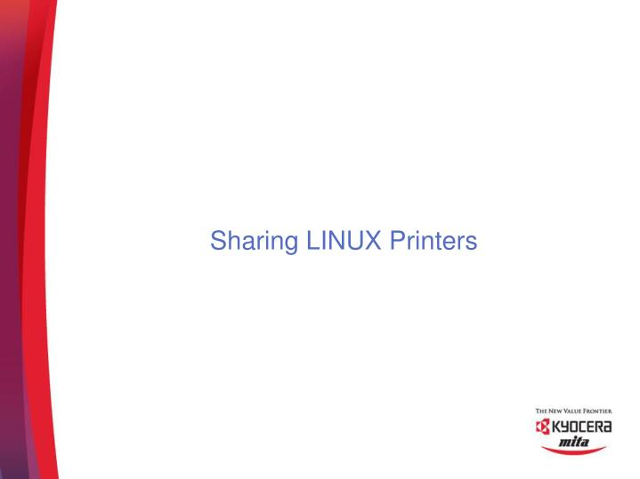 Sharing LINUX Printers