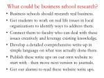 what could be business school research