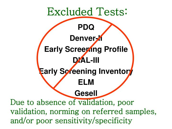 Excluded Tests: