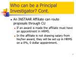 who can be a principal investigator cont
