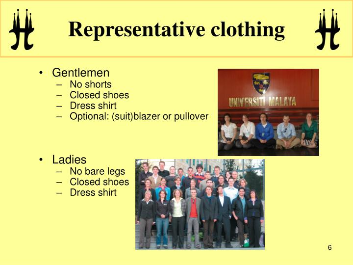 Representative clothing