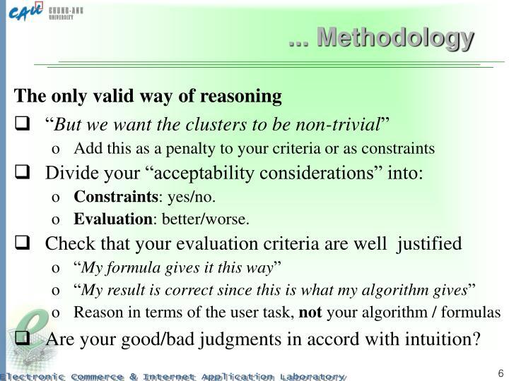 ... Methodology