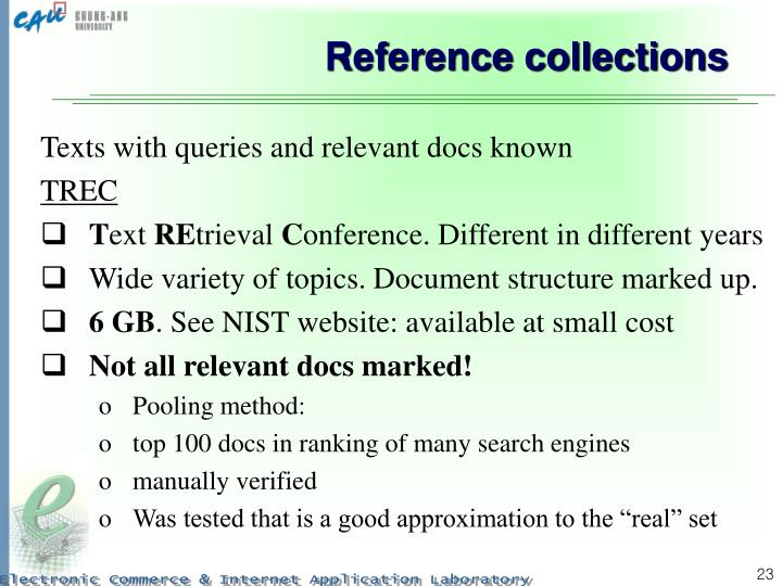 Reference collections